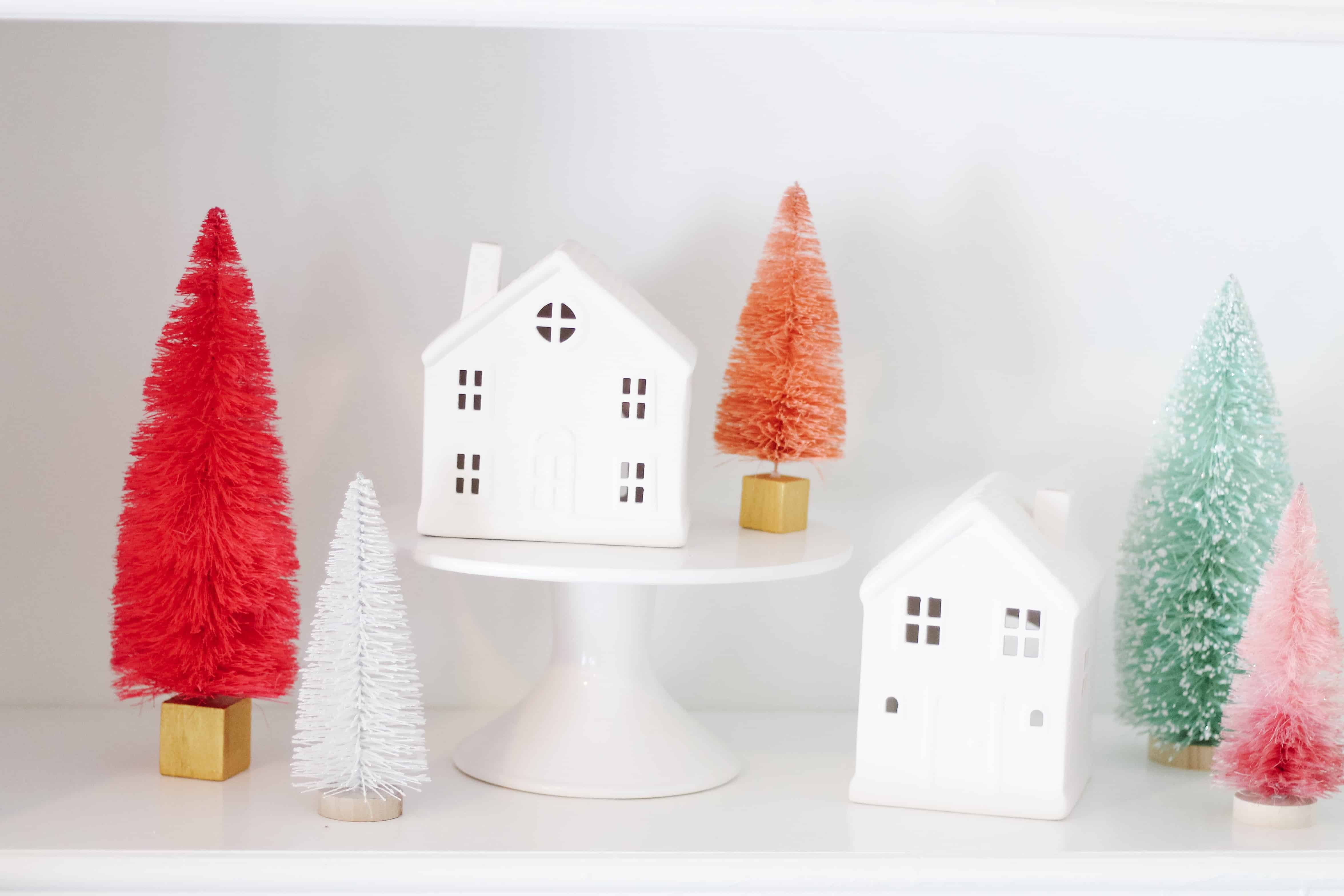 Merry and Bright living room decor