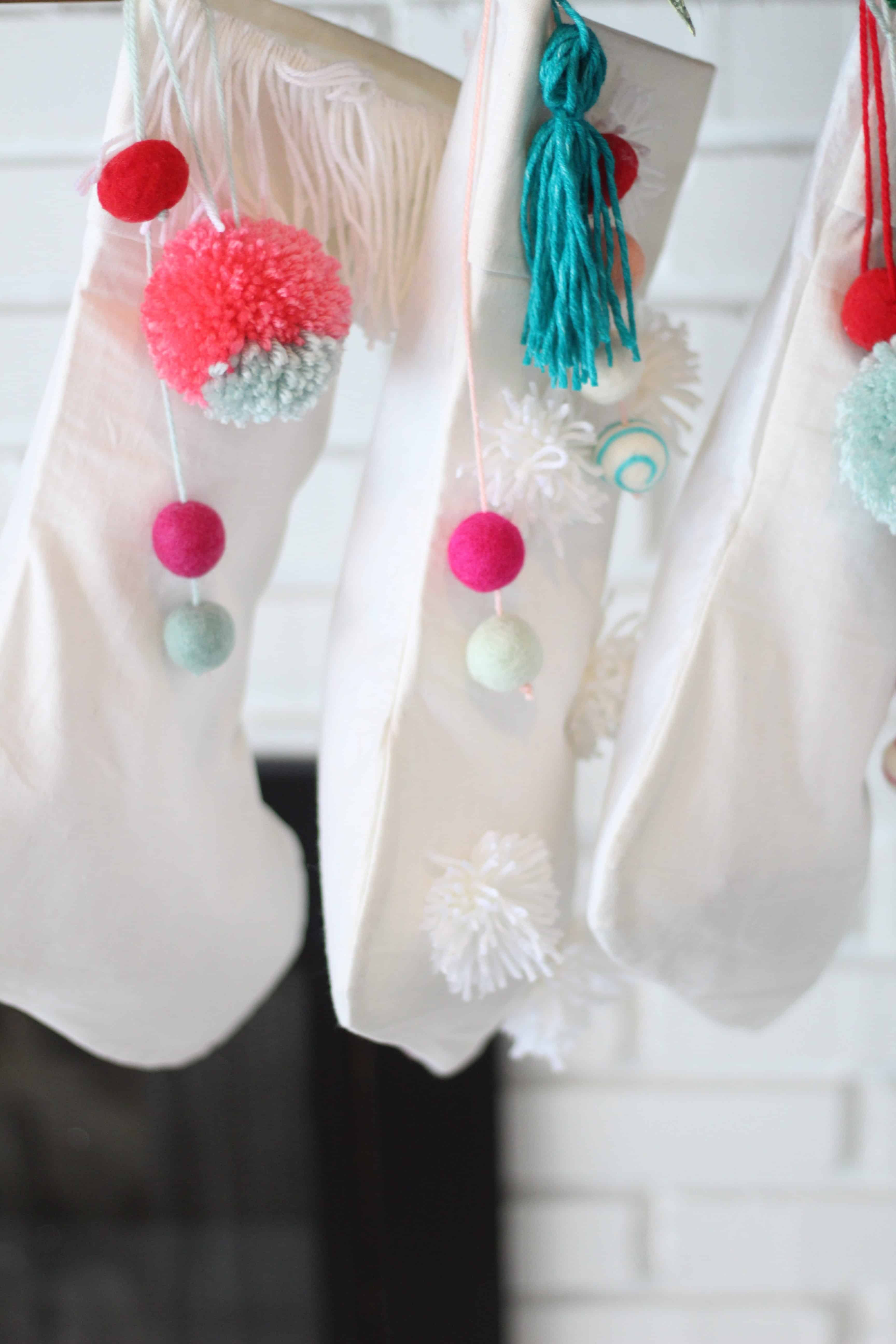 DIY Pom Pom Stockings