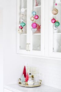 Merry and Bright kitchen bar decor