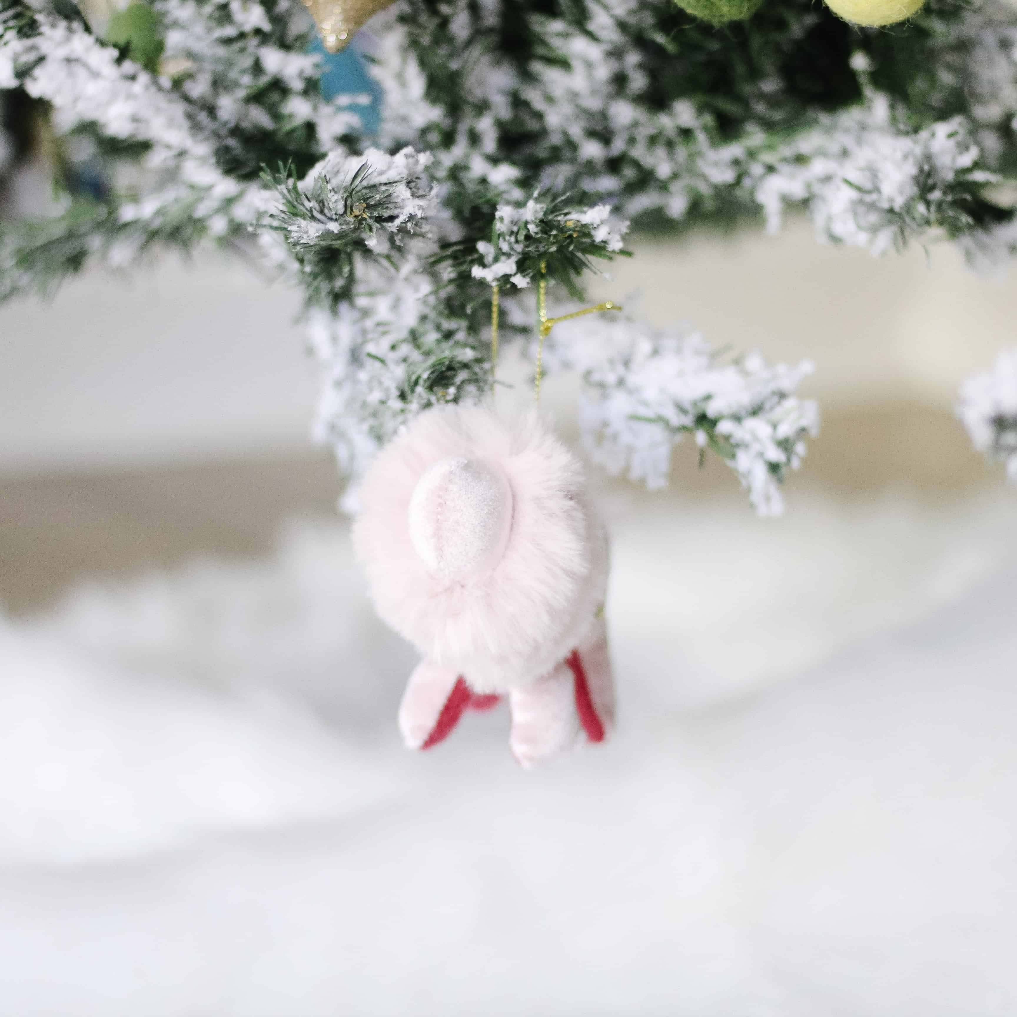 Pink Lion Christmas Ornament