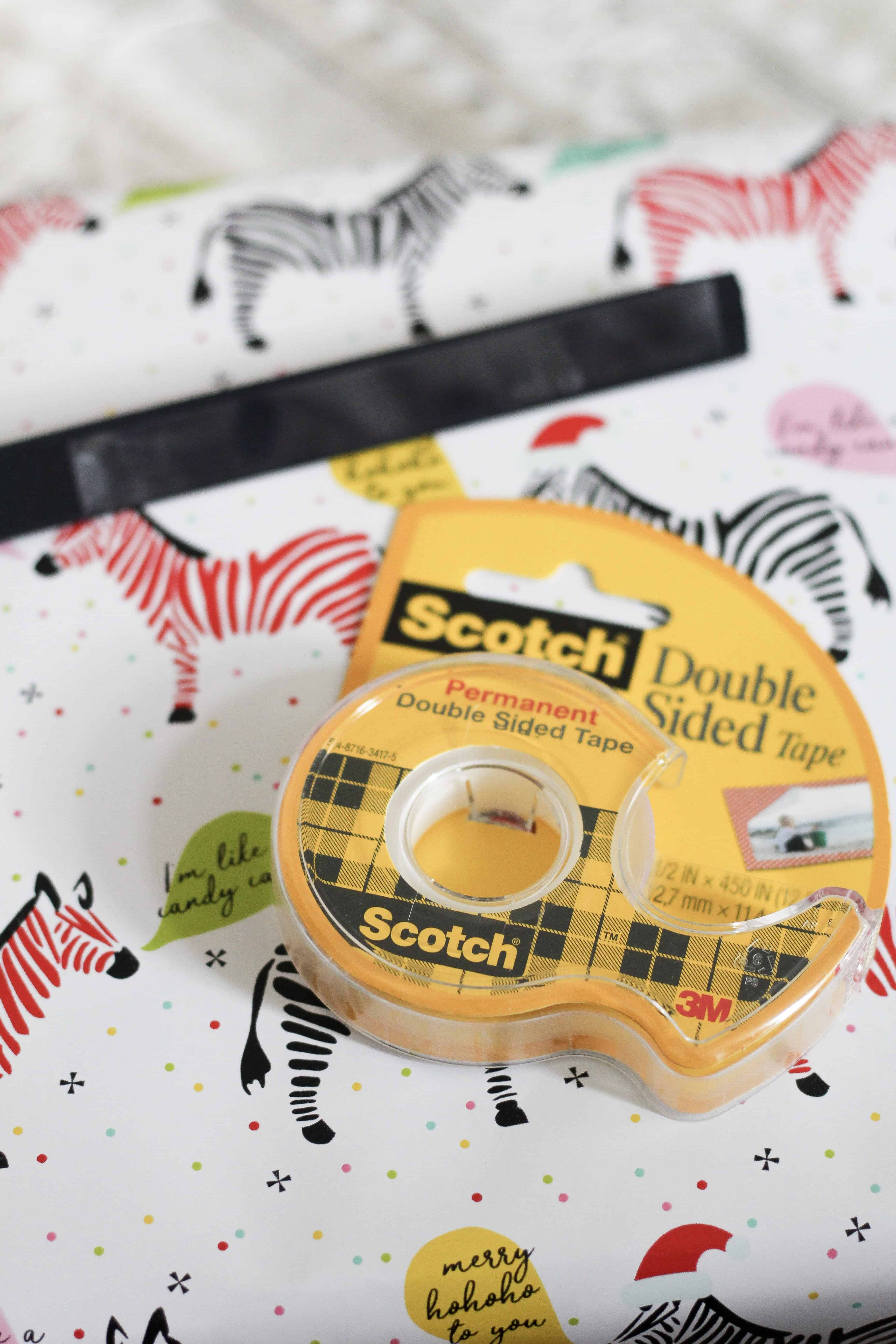 Scotch Double Sided tape on presents