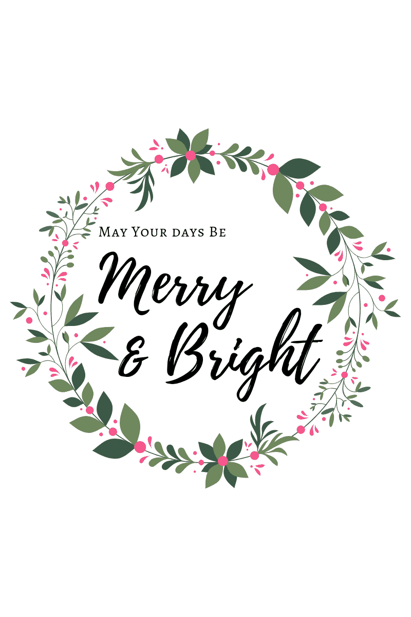 free Merry and Bright printable
