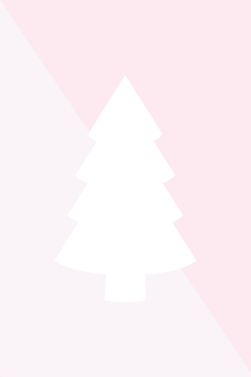 pink and white Christmas tree printable