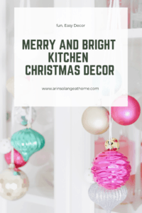 merry and bright kitchen Christmas decor
