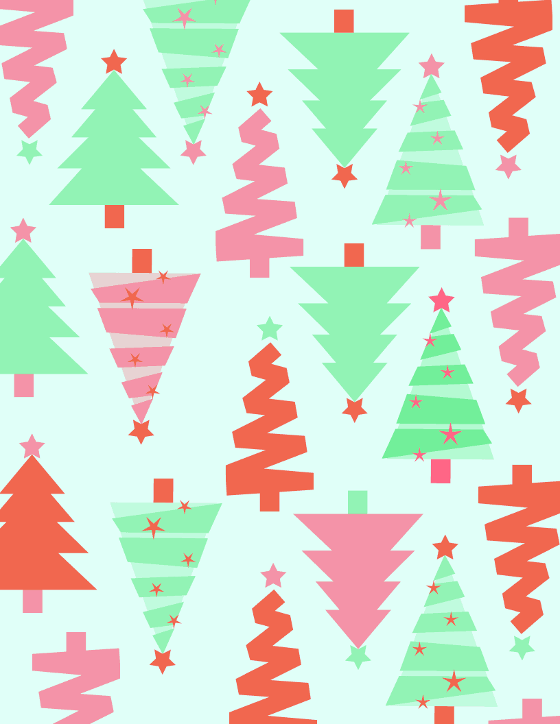 pink and mint free Christmas printable