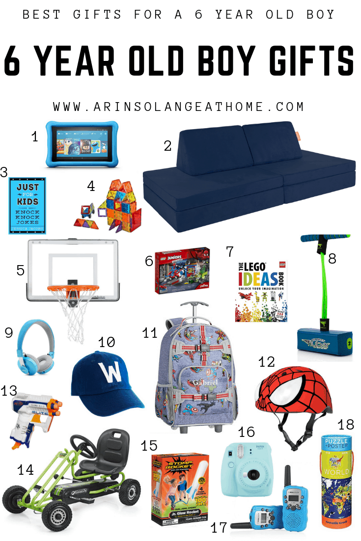 guide for 6 year old boy gifts