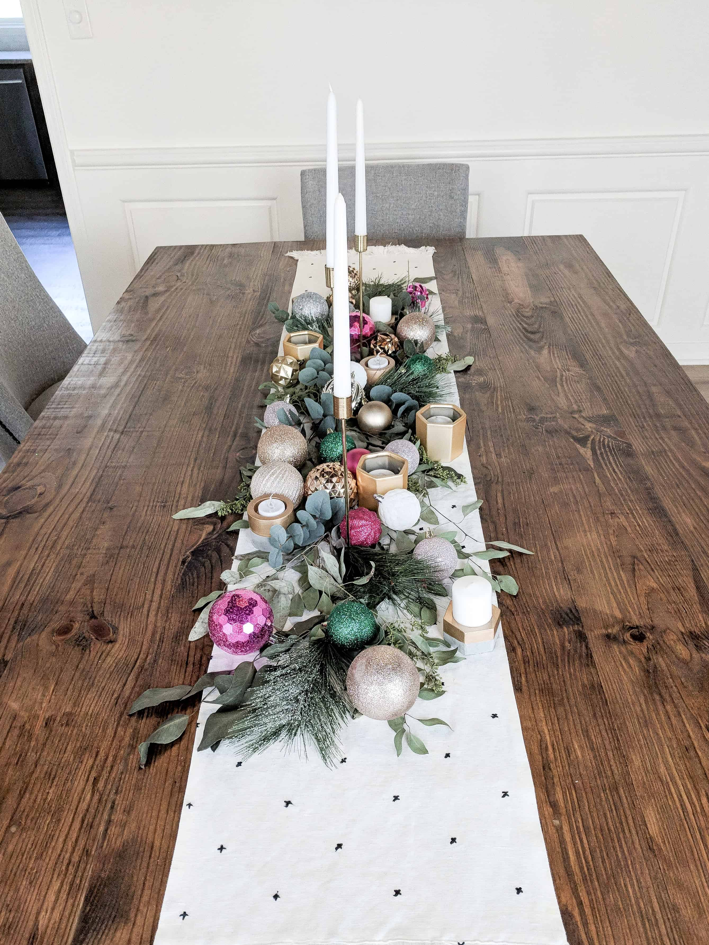 Merry and Bright Dining Table Decor