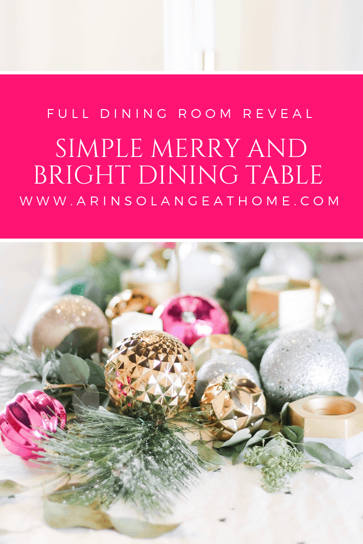 Simple Merry and Bright Dining table Decor