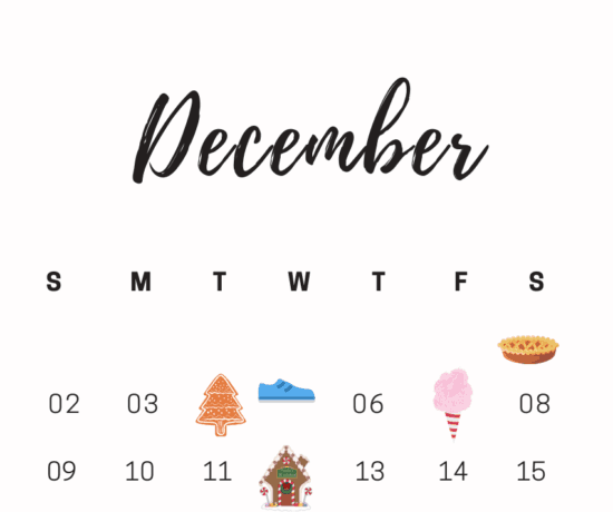 Printable December National Days Calendar