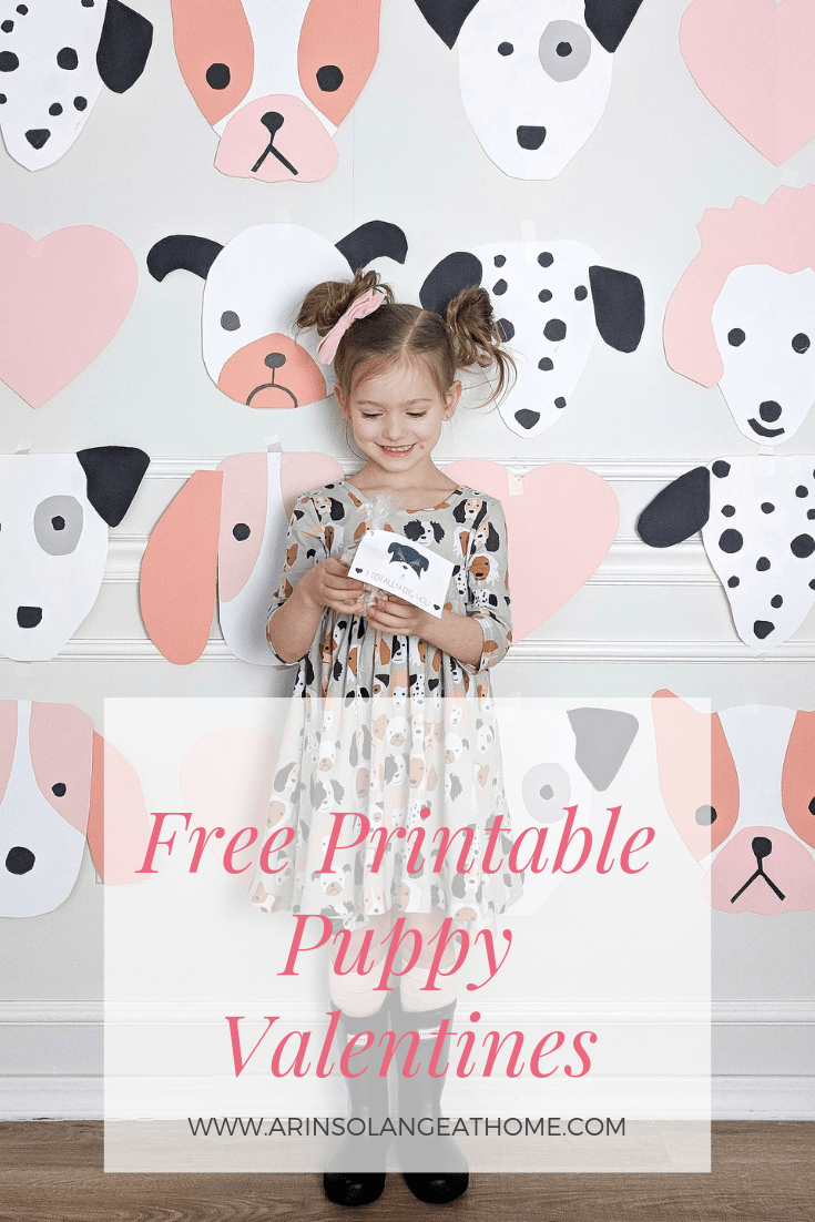 Free printable puppy themed valentines