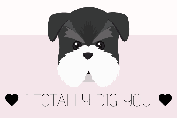 free printable puppy themed valentine