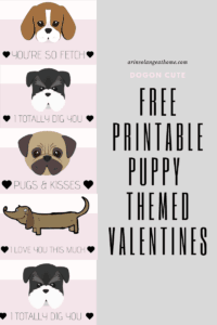 free puppy themed valentines