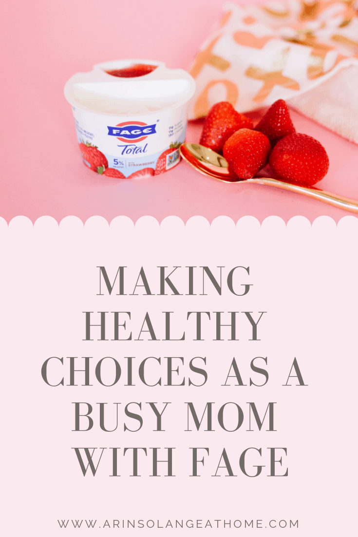 Making Healthy Choices as a mom Graphic