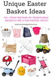 Unique Easter Basket Ideas for kids round up photo