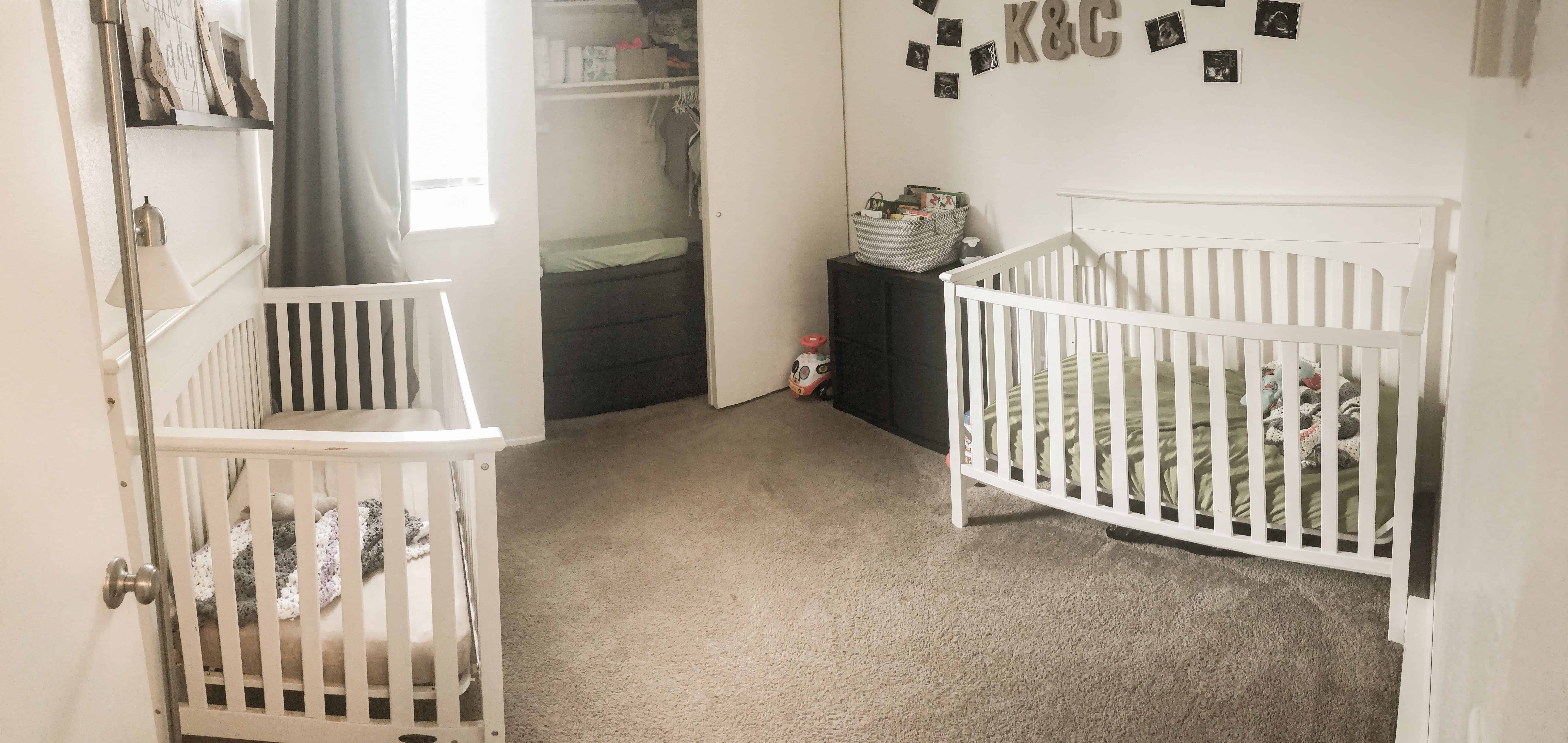 neutral twin nursery