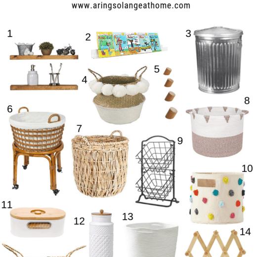 round up of decorate Amazon storage items