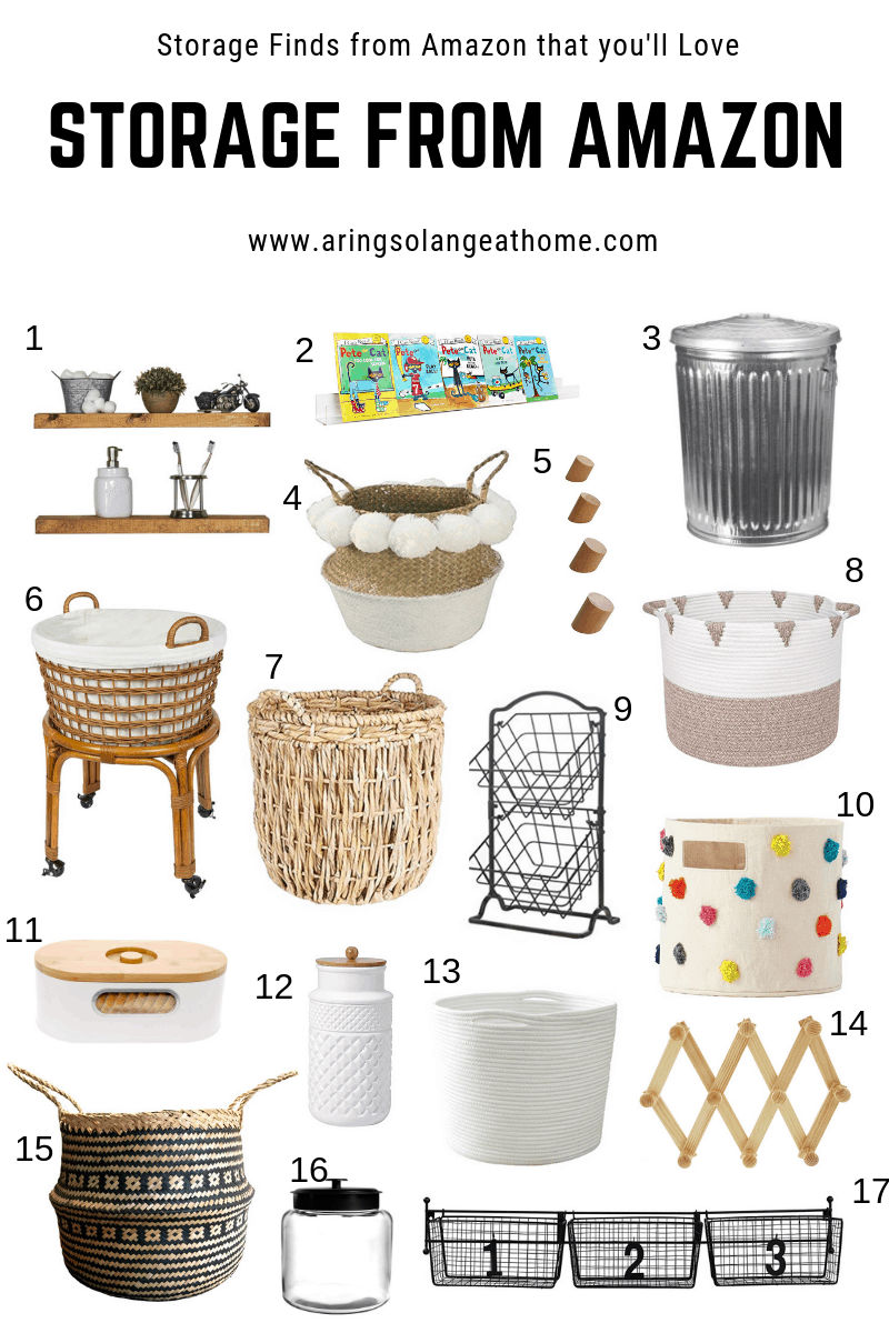 round up of decorate Amazon storage items