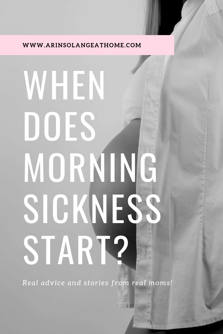 Graphic for When does Morning Sickness Start