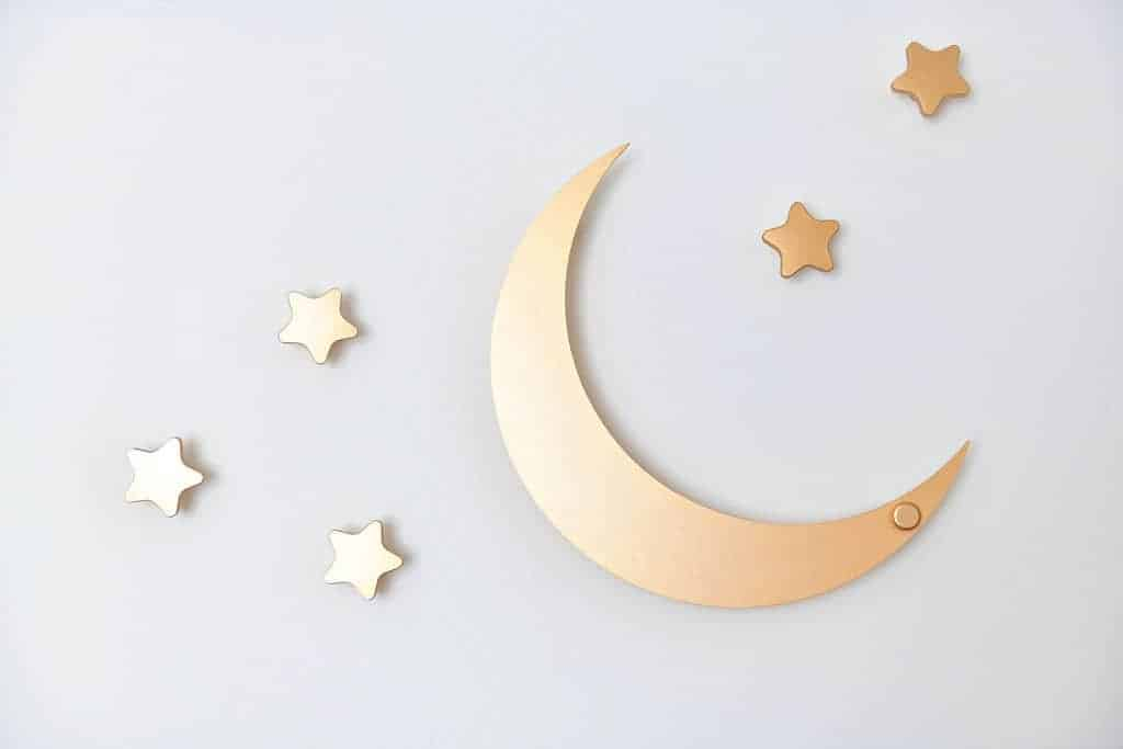 moon and star wall hooks
