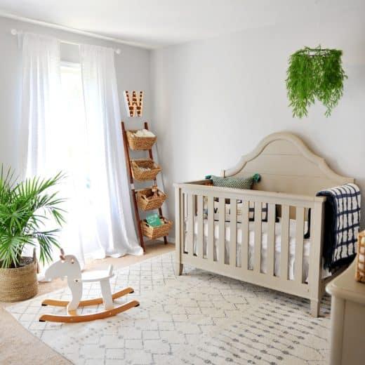Photo of boys nursery with amazon rug