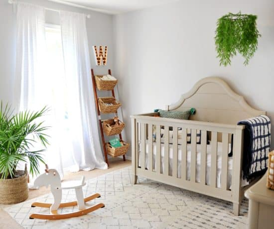 Photo of boys nursery with amazon rug