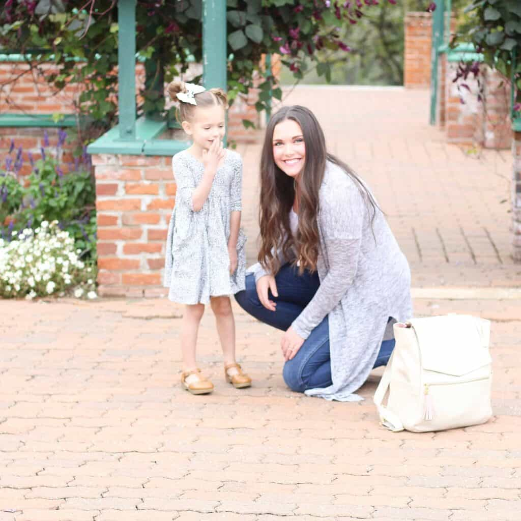 mom and daughter by Freshly Picked Diaper Bag