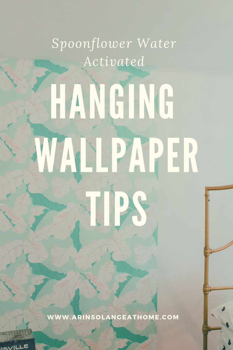 Hanging spoonflower water activated wallpaper