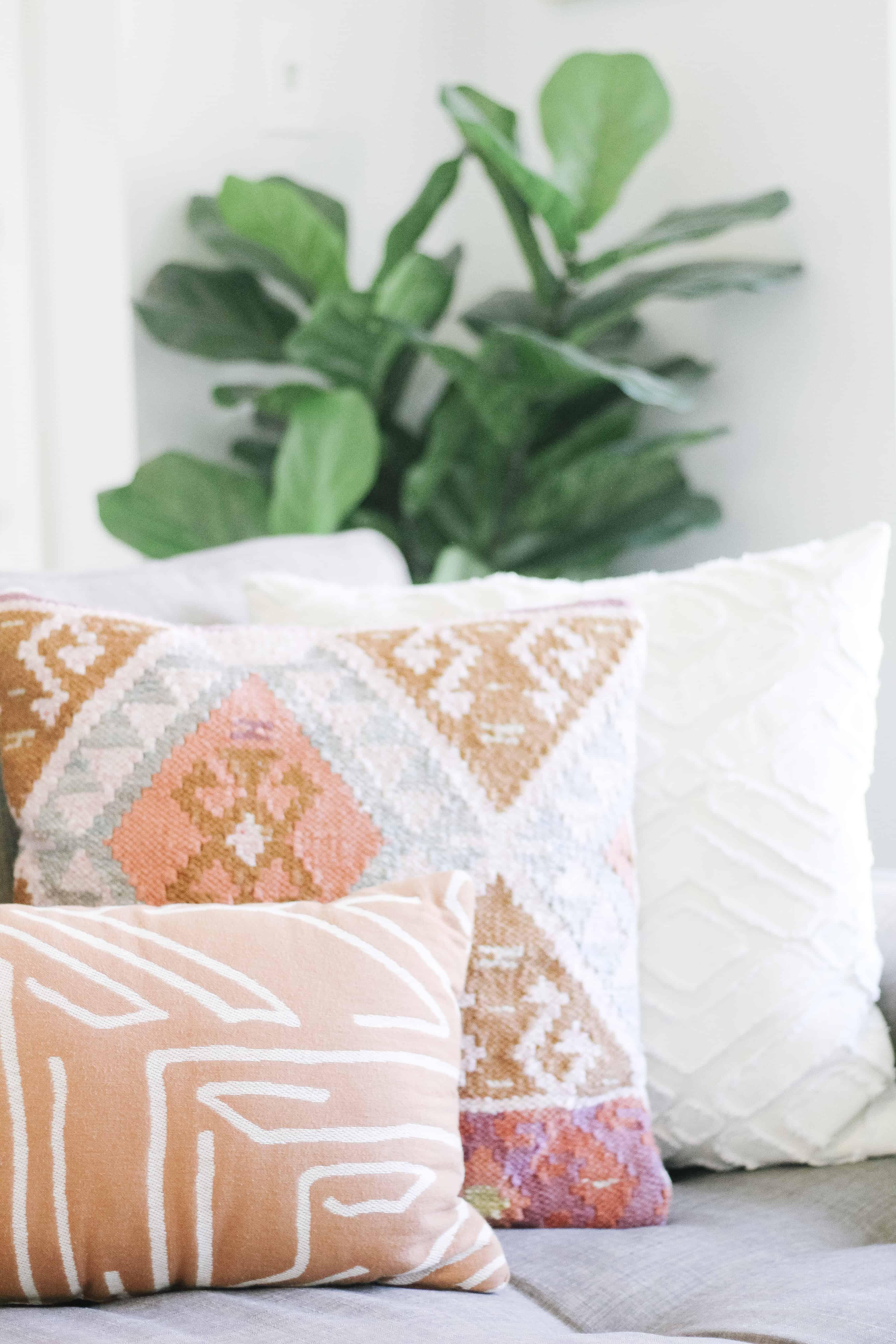 boho chic living room pillows