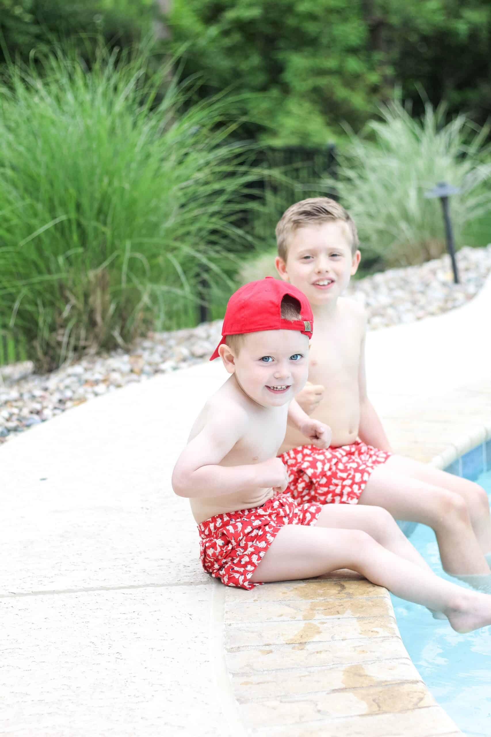 boys patriotic swimsuits