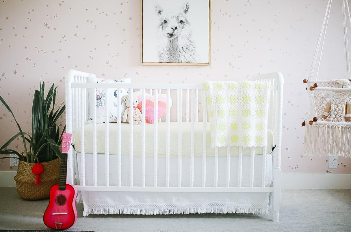 boho chic girls nursery