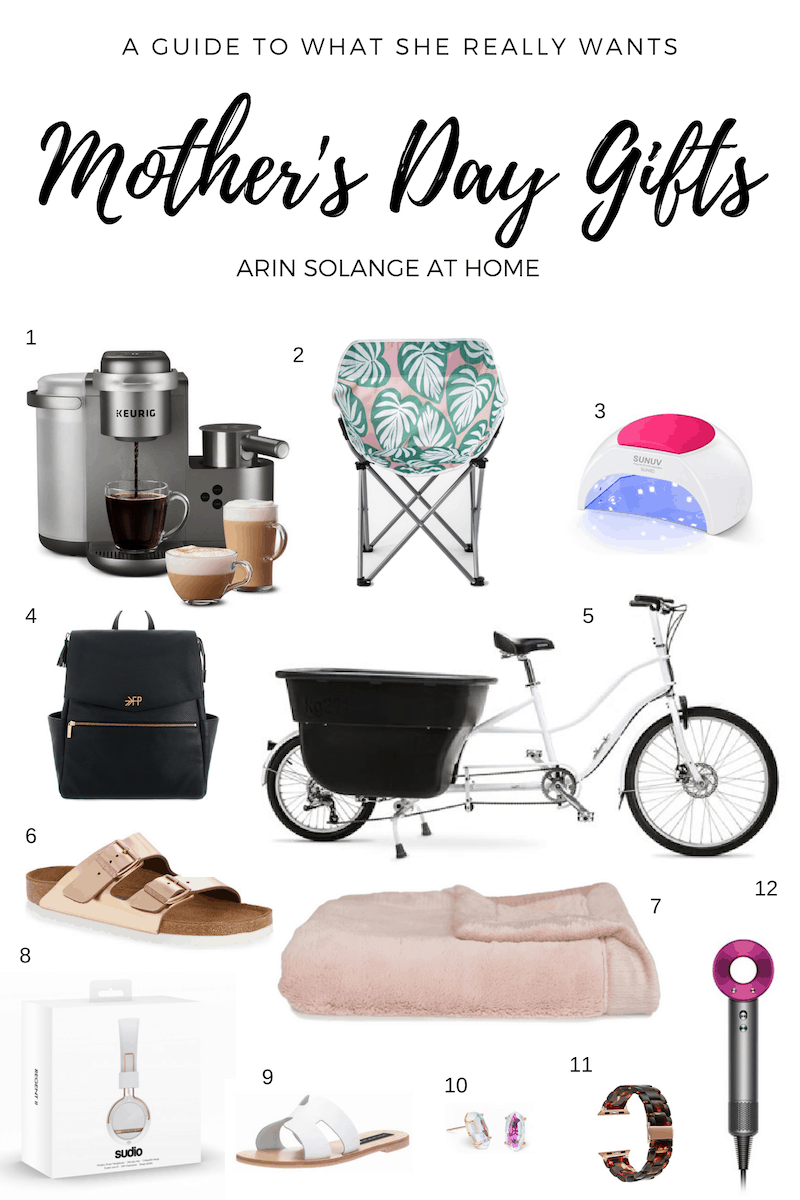a guide of last minute mothers day gifts for any mom