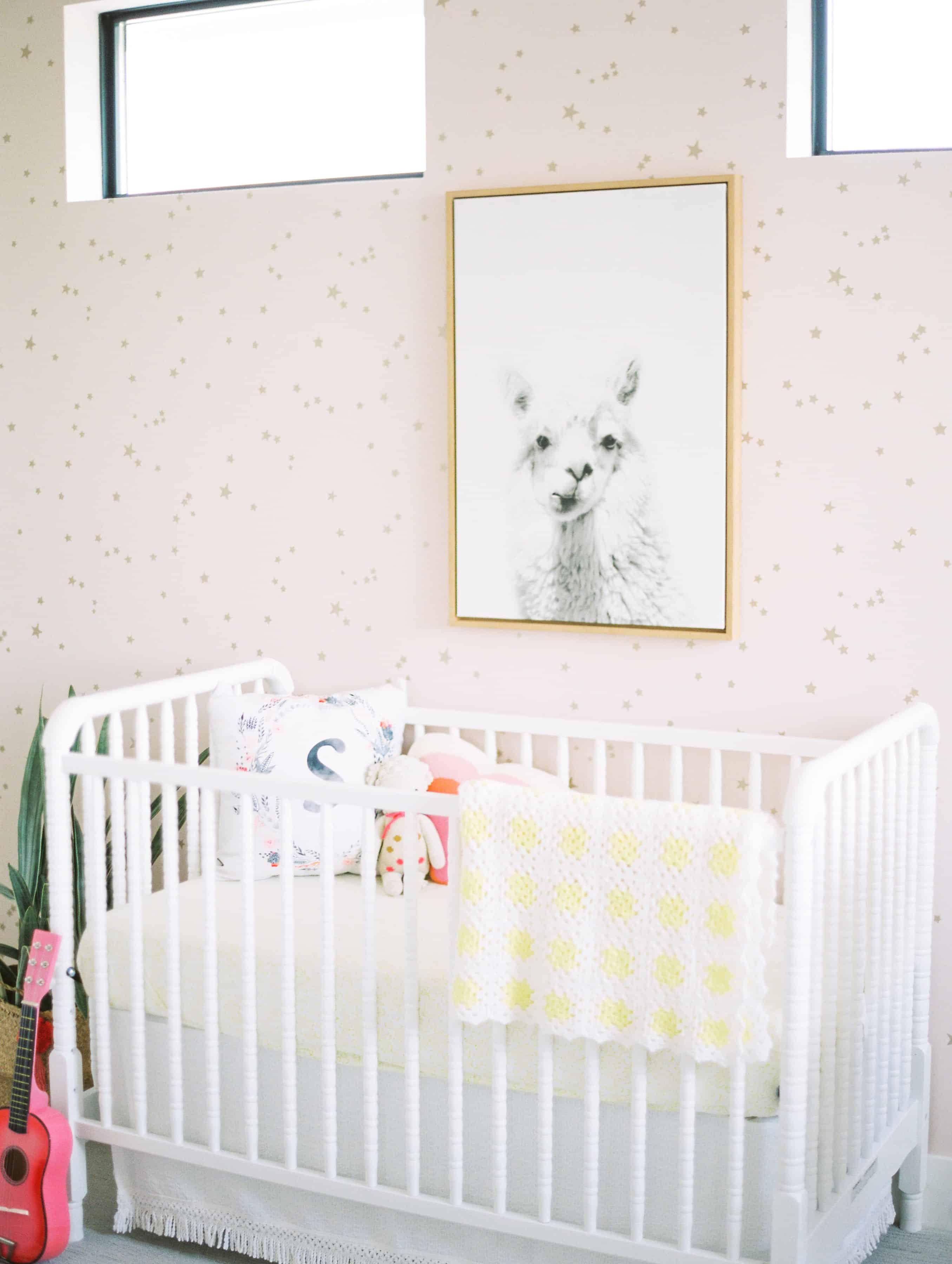 Alpaca picture in nursery