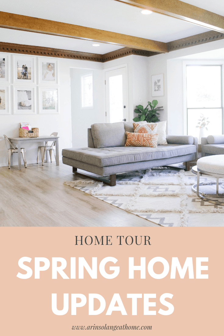 Spring Home tour full of inexpensive Spring Home updates from Arin Solange at Home