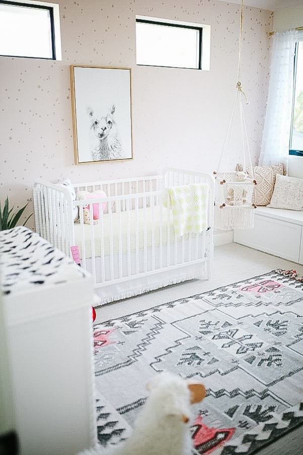 picture of a boho chic girls nursery