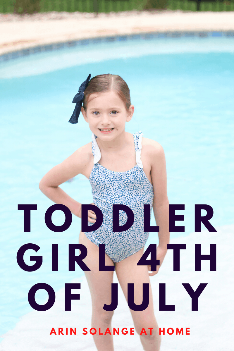 Toddler girl 4th of July outfit