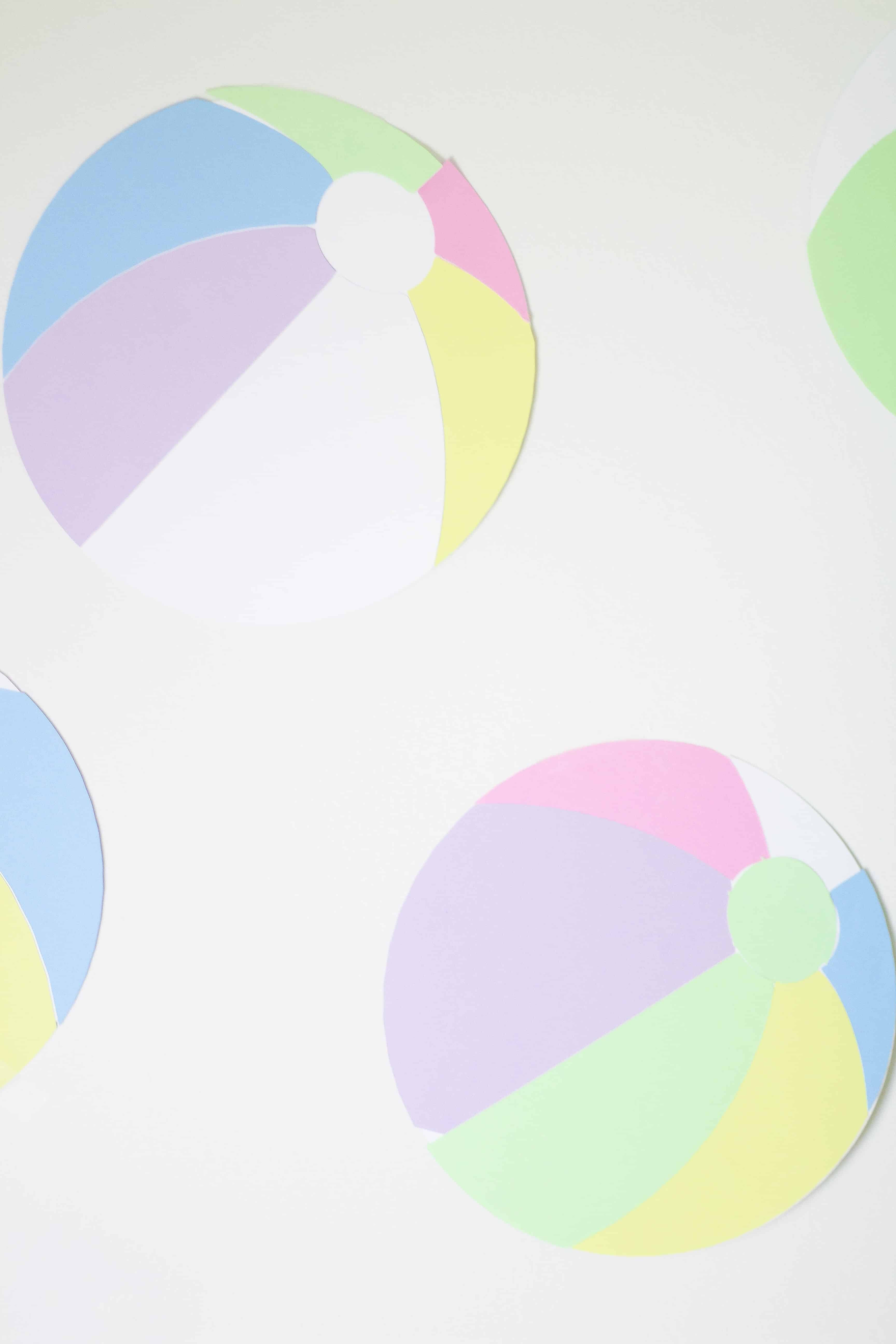 Beach ball paper backdrop