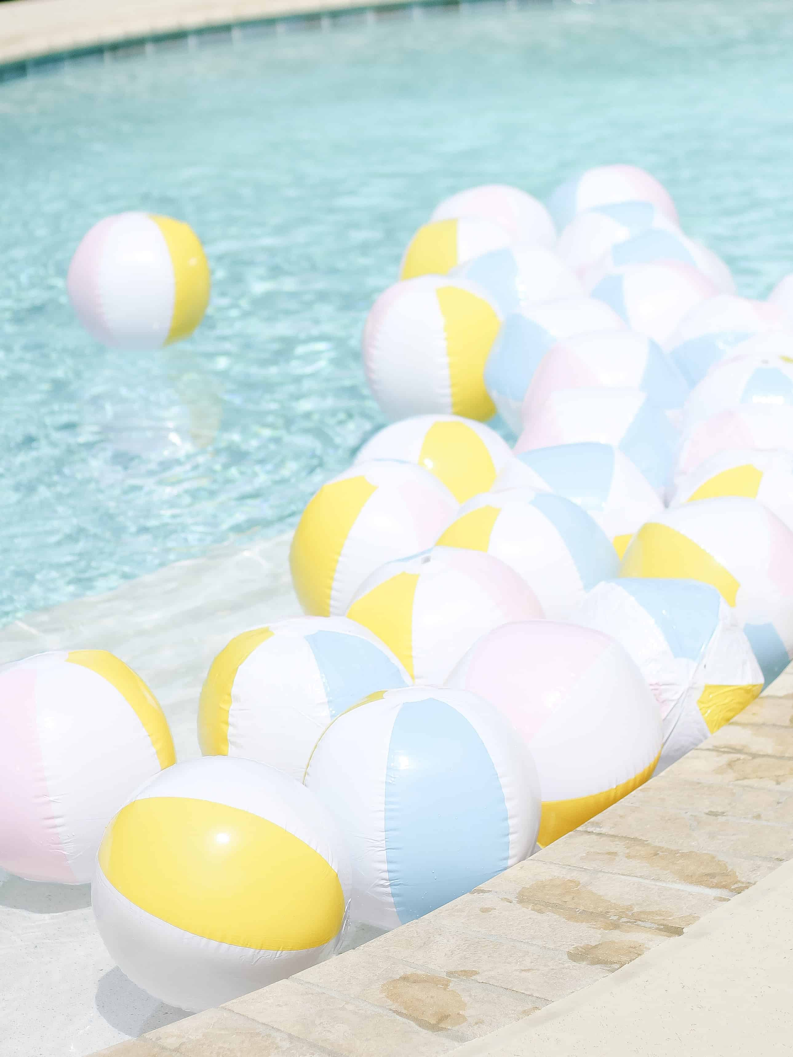 pool filled with beach balls