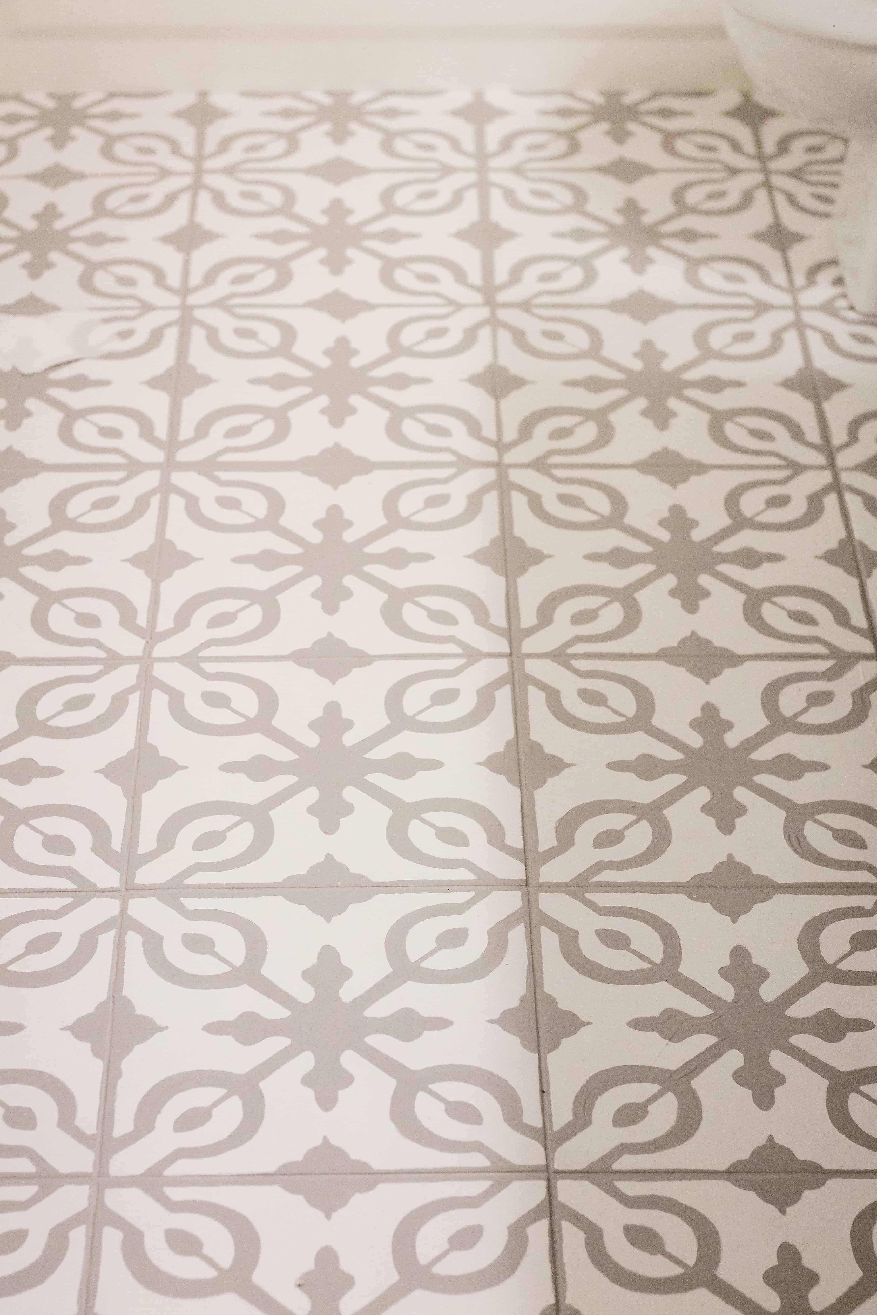 Painted and stenciled Tile floors