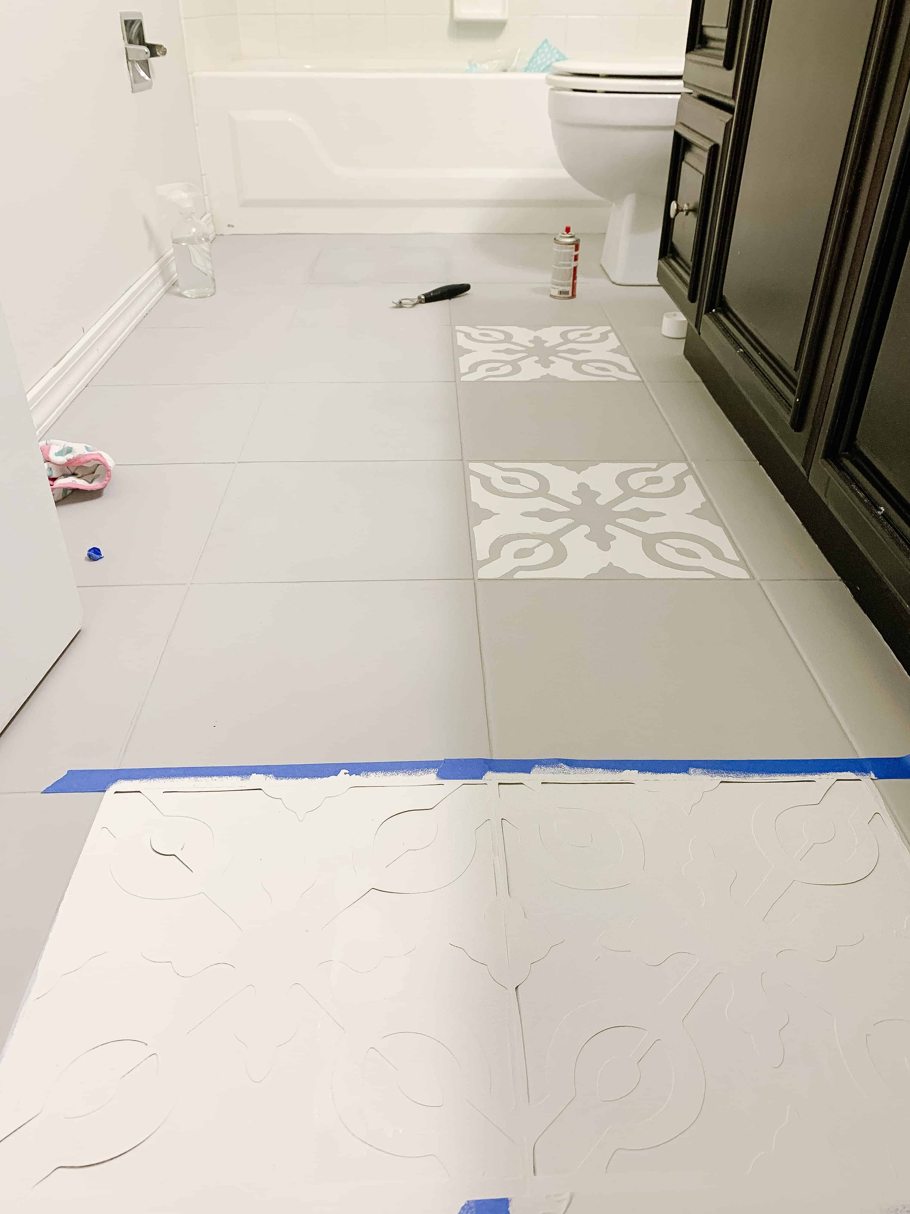 Grey Floors being painted white