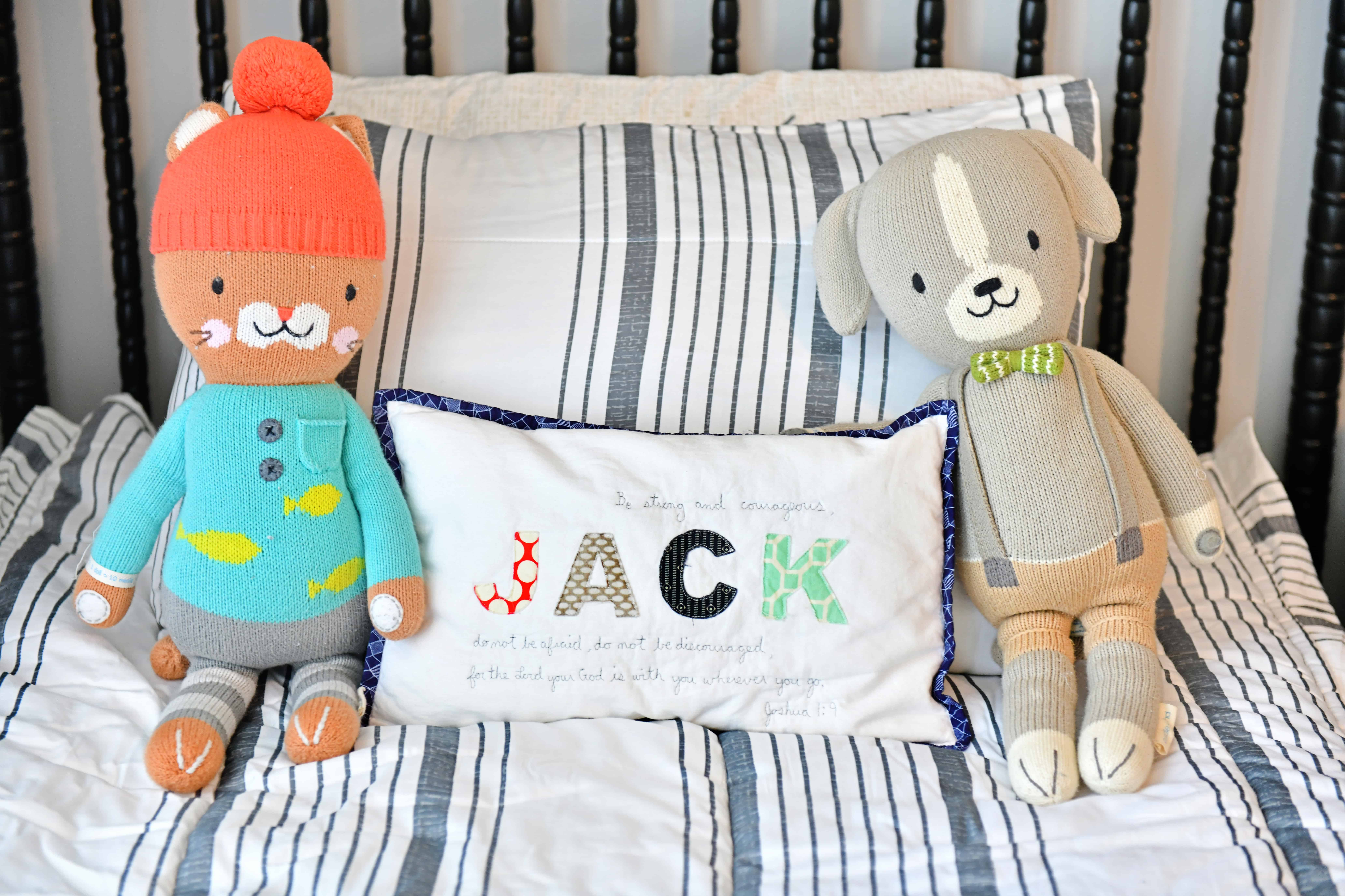 Jack pillow cuddle and kind dolls