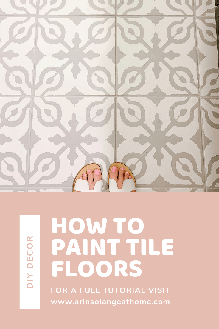 how to paint tile floors blog graphic
