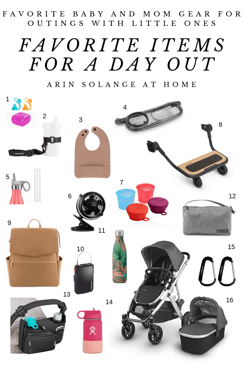 favorite items for a day out with kids