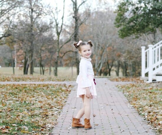 toddler girl in fall clothes