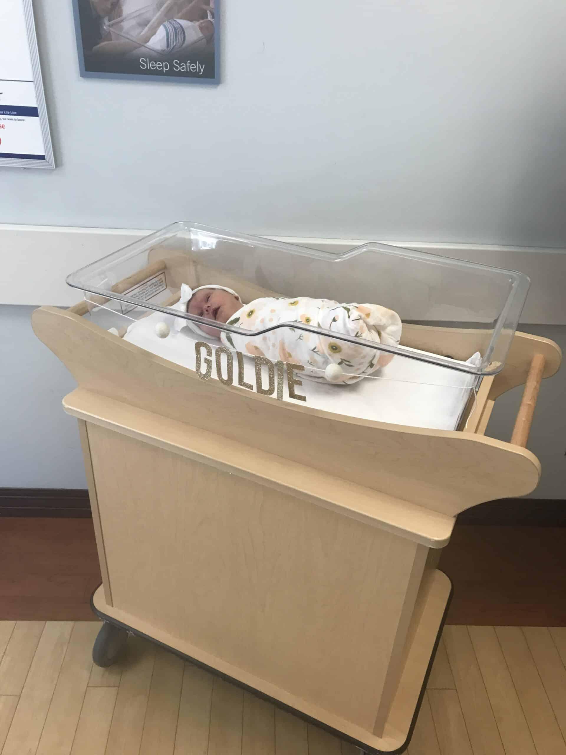 Newborn baby hospital bed sign