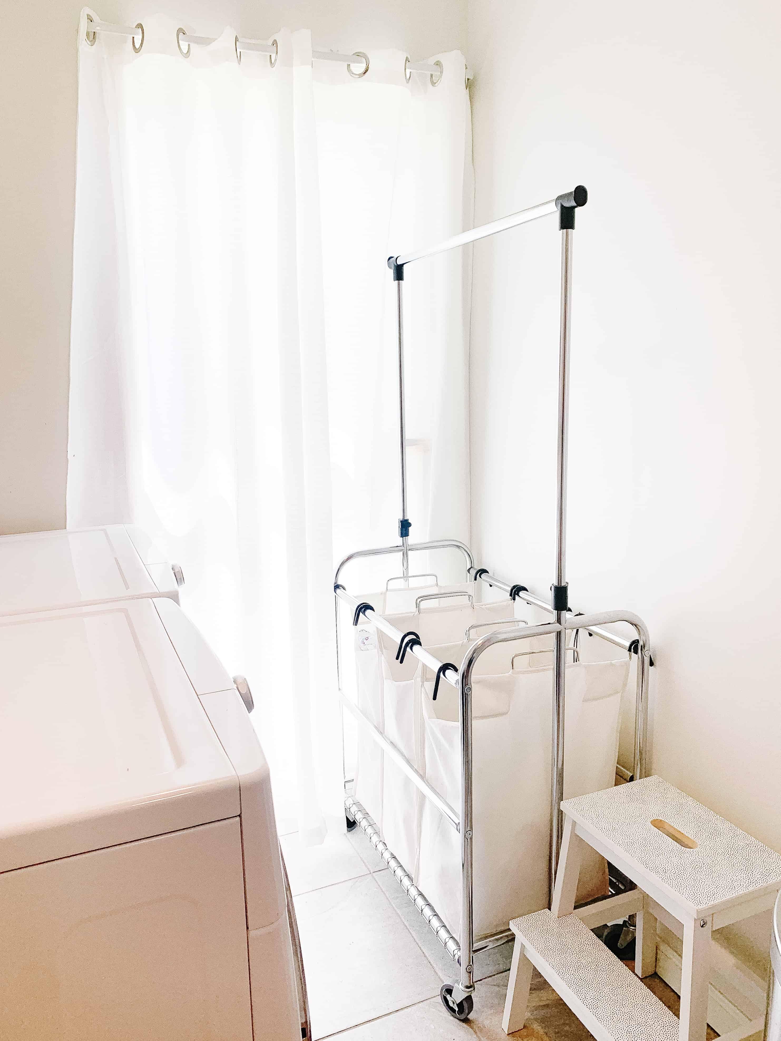 3 tier rolling laundry bin