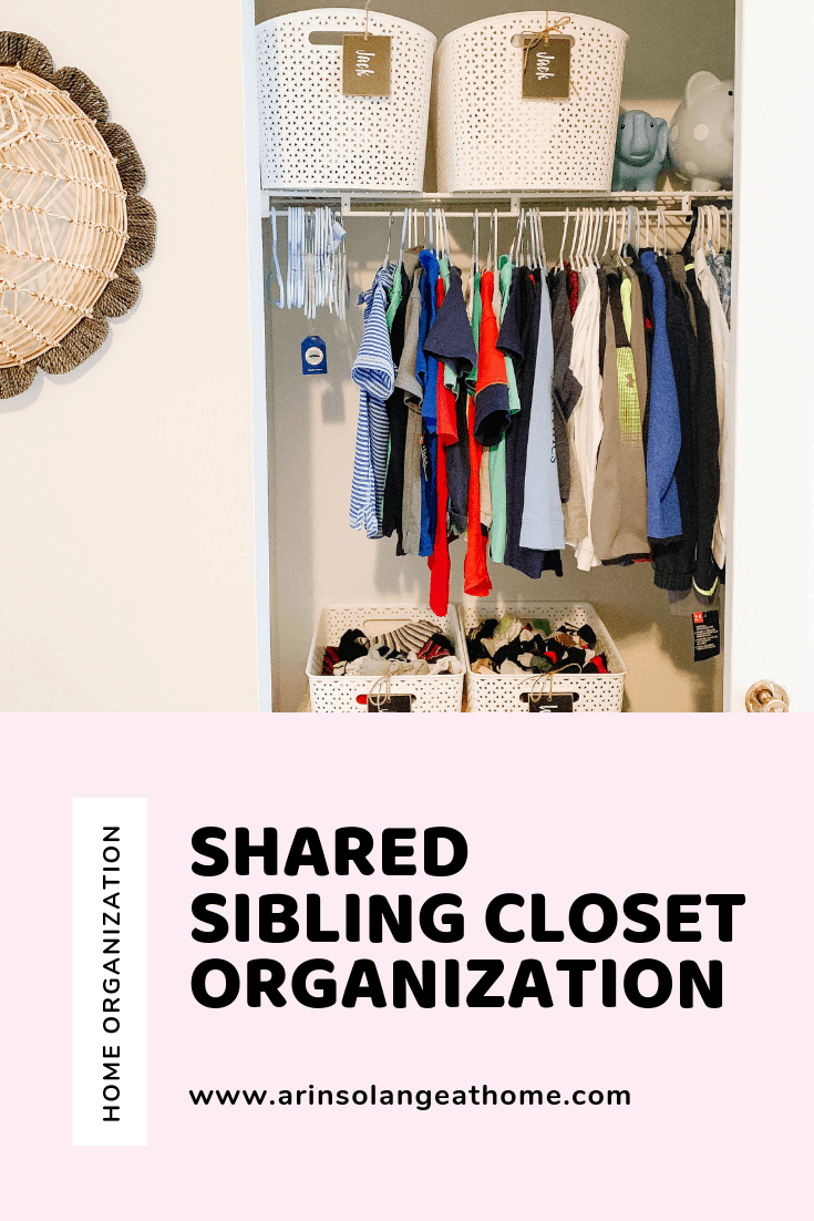 Shared Sibling Closet Organization