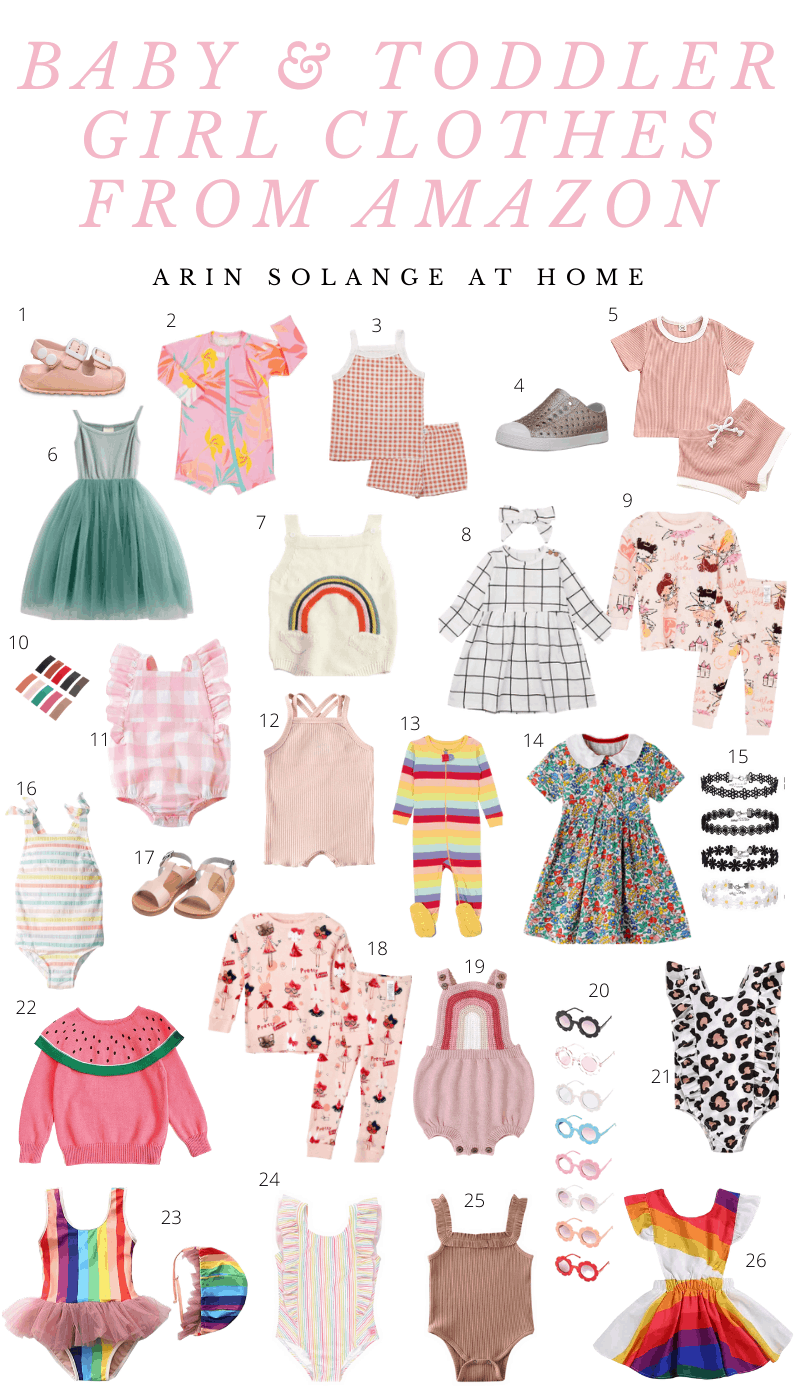 amazon clothes for baby and toddler girls
