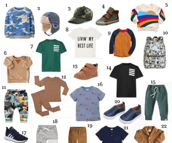 A round up of unique toddler boy fashion