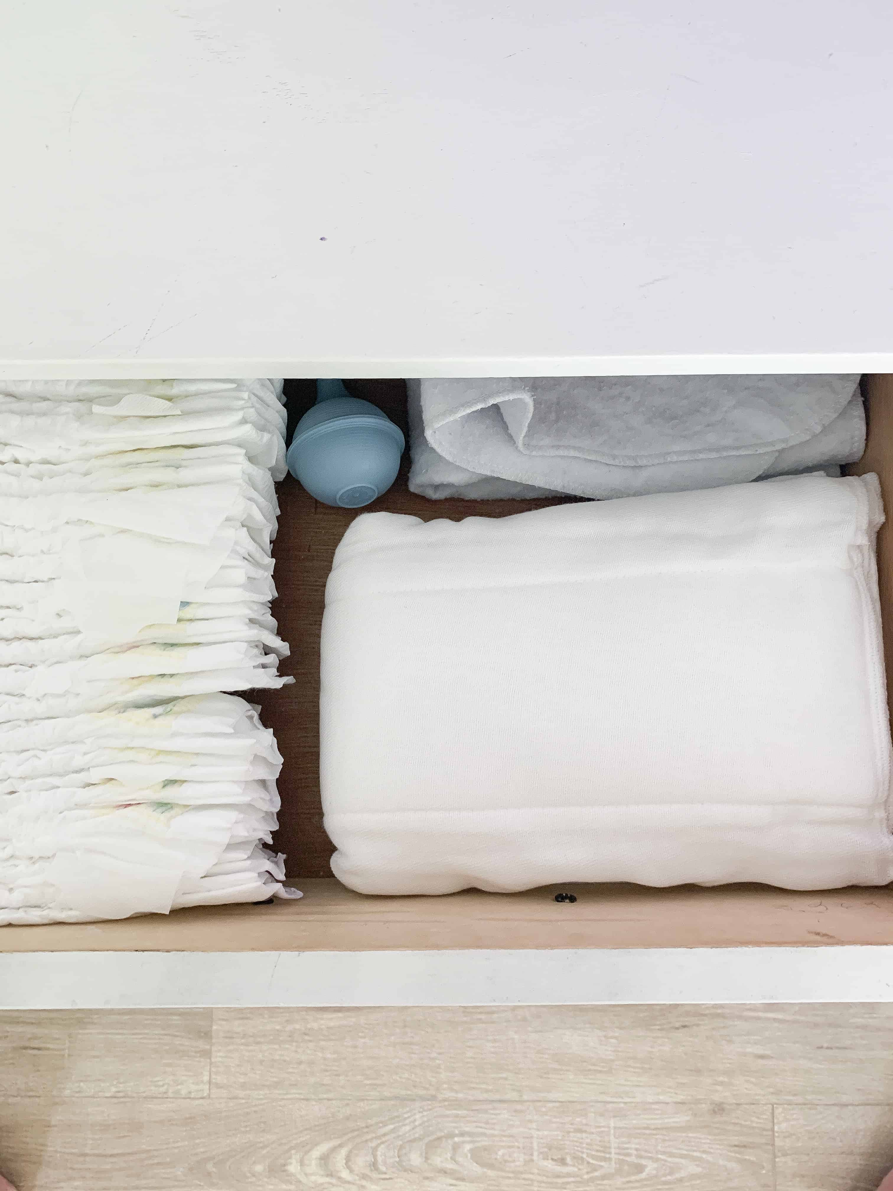 drawer full of baby essentials!
