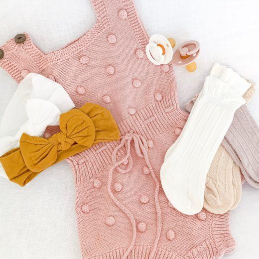 flat lay of baby girl amazon fashion